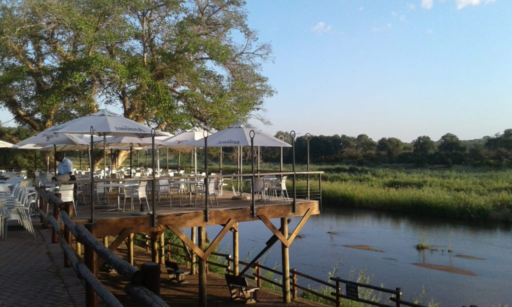 View from the deck of Skukuza Camp restaurant